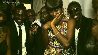 Marriage Proposal at the Freetown Movie premier