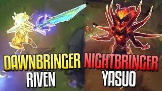 NEW NIGHTBRINGER YASUO & DAWNBRINGER RIVEN SKINS!! Gameplay Teaser - League of Legends
