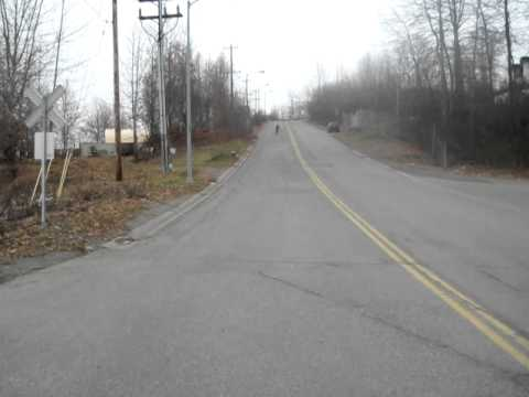 I just rode down this hill up the road from a friends house in Anchorage, ...