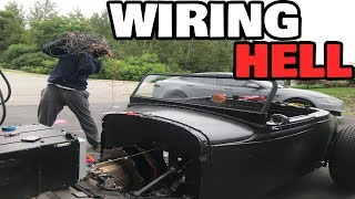 My electric rat rod wiring Hell