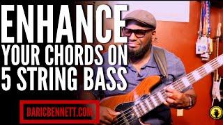 CHORDING ON A 5 STRING BASS GUITAR QUICK TIP ~ Daric Bennett's Bass Lessons