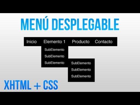 Como hacer un menu desplegable con HTML y CSS