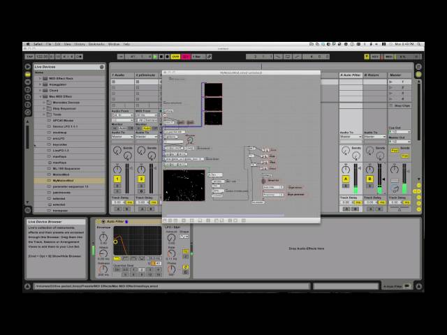 M4L : jitter tutorial : Max for Ableton Live, MotionMod by ZealTV, frame differencing