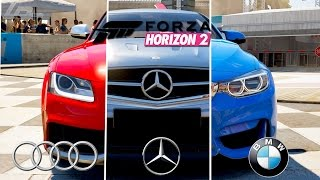 FORZA HORIZON 2 - AUDI VS MERCEDES VS BMW (Xbox One) / Lets Play Forza Horizon 2