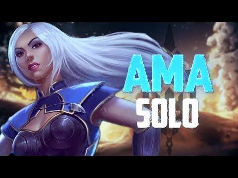UNDISPUTED NUTTIEST SOLO LANER IN THE WORLD! - Incon - Smite -Amaterasu Solo