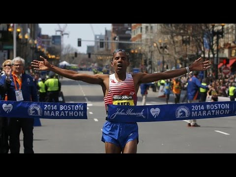 American Meb Keflezighi wins the 2014 Boston Marathon