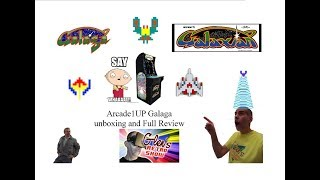Galaga Arcade1UP unboxing and full review