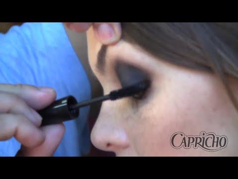 Make com K: Olho preto com gloss