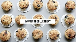 MUFFINS DE BLUEBERRY ♡ | Da Brunettes