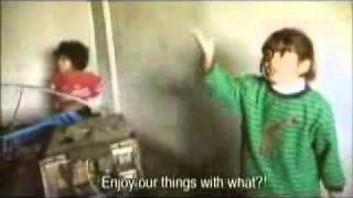 Palestinian child message to the world