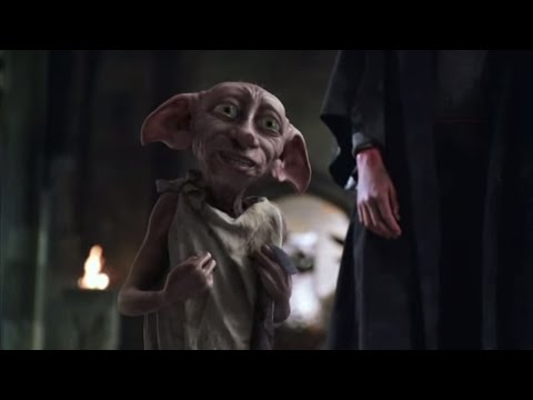 Harry confronts Lucius Malfoy and frees Dobby.