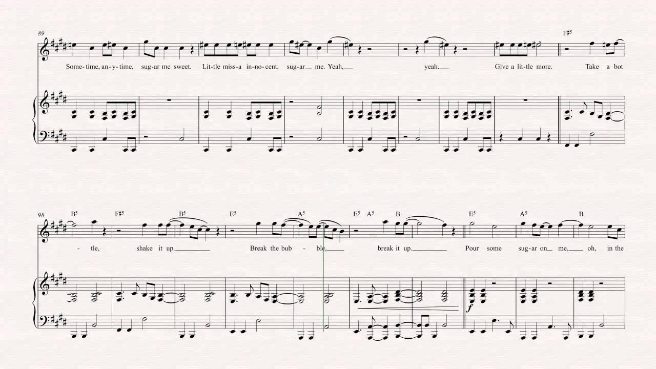 Violin - Pour Some Sugar on Me - Def Leppard Sheet Music, Chords, u0026 Vocals - YouTube