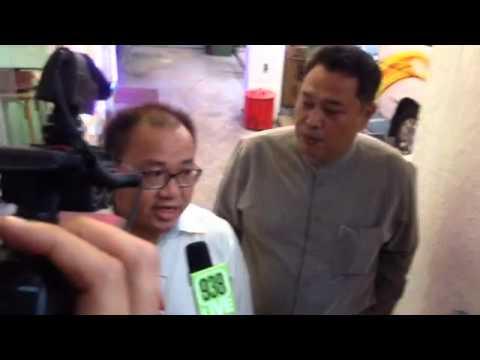 Desmond Lim from Singapore Democratic Alliance speaks to media