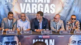 Amir Khan vs. Samuel Vargas PRESS CONFERENCE with Eddie Hearn.