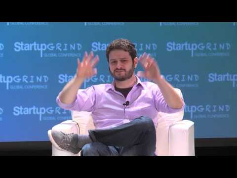 Dustin Moskovitz (Asana; Facebook) and Katie Benner (NYT) at Startup Grind Global 2016