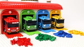 Tayo the Little Bus Friends - Building a LEGO Block Classic Creativity Color Box!