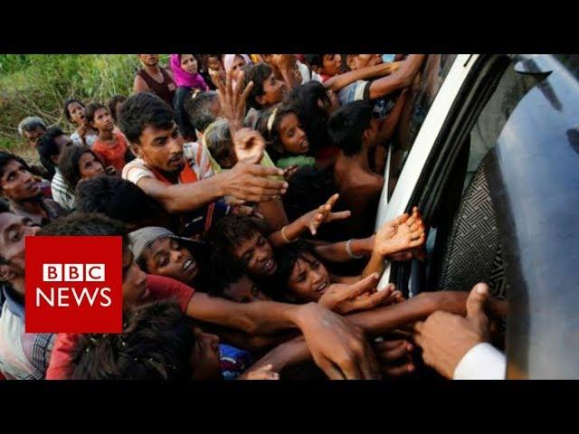 Myanmar conflict: Rohingya refugee surge hits Bangladesh - BBC News
