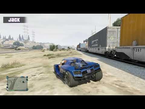 Lets Play Monday - Let's Play - GTA V - Train Hopping