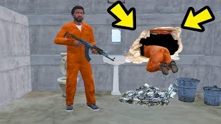 GTA 5 - O Túnel secreto e a FUGA DA PRISÃO!!