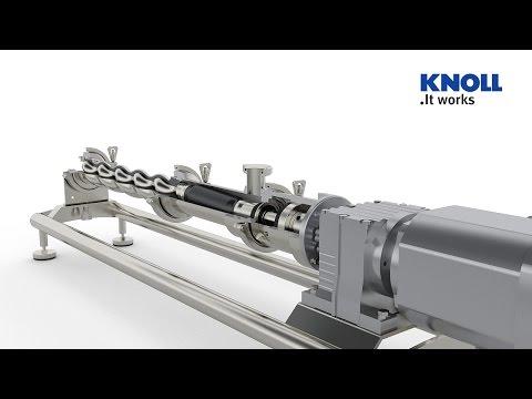 Pumpen Technik 3D CAD Animation Exzenterschneckenpumpe