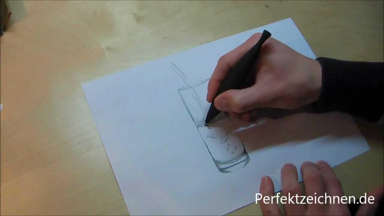 total edel glas zeichnen lernen online perfekte reflektionen im wasserglas youtube. Black Bedroom Furniture Sets. Home Design Ideas