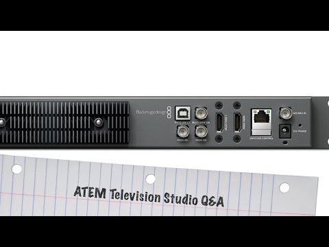 BlackMagic ATEM Television Studio: Streaming, Recording via USB, and iPad / Tablet Control