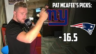 Pat McAfee's Pick For Patriots vs Giants