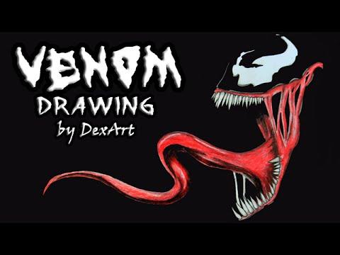 Рисуем венома карандашом поэтапно