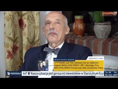 ✪ NA ŻYWO ✪ Janusz Korwin-Mikke - Zamordyzm, Ustawa 447 + Pytania 01.04.2019