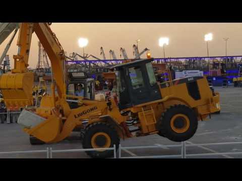 Stunts by Heavy Equipment at Al Qahtani Heavy Equipment and Machinery at Dhahran Saudi Arabia