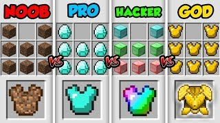 Minecraft NOOB vs. PRO vs. HACKER vs. GOD: SUPER ARMOR in Minecraft MAP! (Animation)