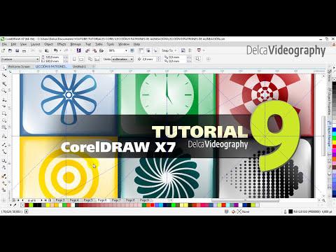 TUTORIAL 9 CorelDRAW X7 Curso en Español: DISEÑO PARAMÉTRICO + PATRONES DE ALINEACIÓN
