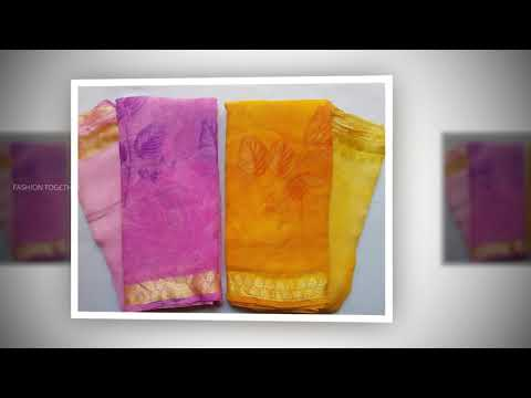 BEST CHIFFON SAREES WITH RICH LOOK FABRIC | LATEST CHIFFON SAREE COLLECTIONS