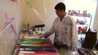 The Making of Colours and Rainbows: Scrape and Splatter Niam Jain Autism Artist