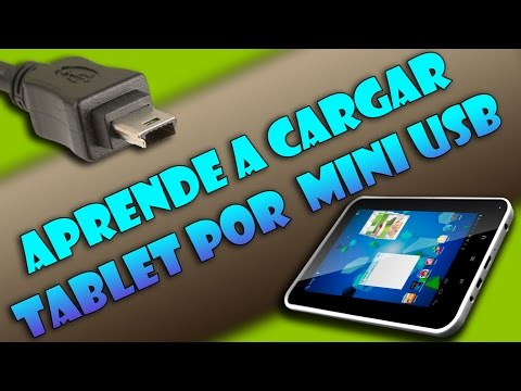 Cargar batería tablet por mini-USB - Easy Home Tablet 7 (Tutorial útil)