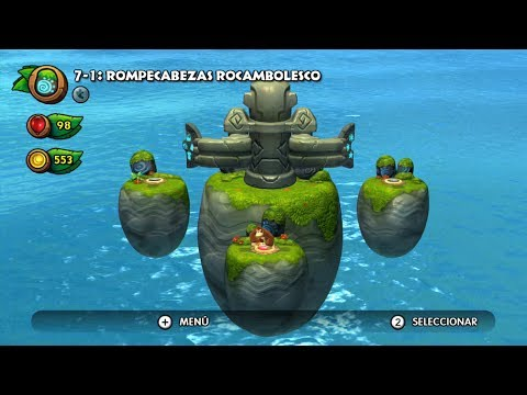 Donkey Kong Country Tropical Freeze WiiU TEMPLOS SECRETOS Parte 1 de 3 1080 HD