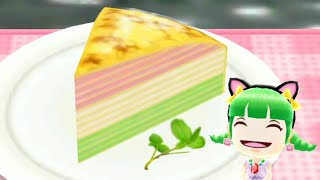 Cooking Mama New Recipe | Colorful Mille Crepe | Game For Girls