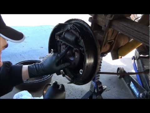 HOW TO INSTALL A WHEEL / AXLE BEARING RACE . AND OIL SOAKED BRAKES FIX !!!