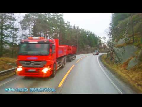 Trucking Girl Norway Kristiansand beautiful november Красивый ноябрь