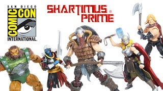 Marvel Legends SDCC 2017 The Mighty Thor Battle for Asgard 5 Figure Box Set Hasbro Toy Review