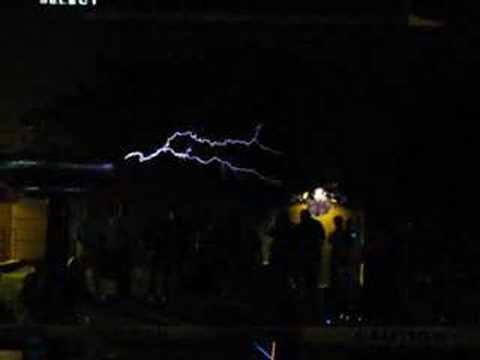 Tesla Coil: Super Mario Theme With Lightning