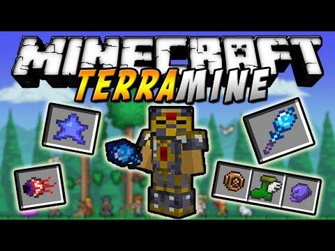 Minecraft - TerraMine MOD (Items de Terraria, Bosses, Más Biomas, etc!) - ESPAÑOL TUTORIAL
