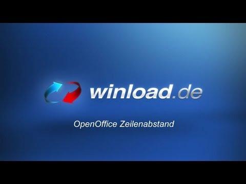 OpenOffice - Zeilenabstand verändern Tutorial | Winload.de