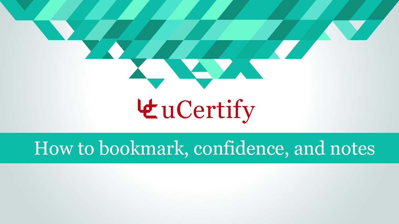 How to bookmark confidence and notes