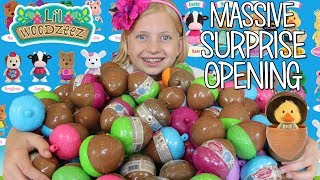 HUGE Surprise Toy Egg Opening with Lil Woodzeez