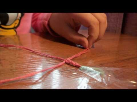 Как сделать фенечки из ниток ютуб