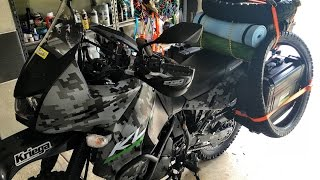 KLR 650 (2016 Camo) Modifications and luggage update