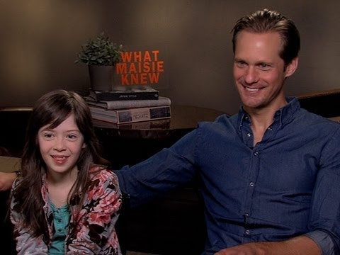 Alexander Skarsgard and Onata Aprile Talk 'What Maisie Knew'