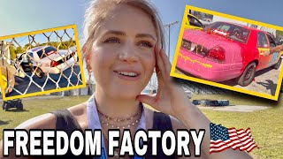 Spray Painting Cars, Limo Racing + CARNAGE at Freedom Factory!