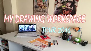 My Drawing WorkSpace Tour 2016 | SPECIAL 5K SUBS